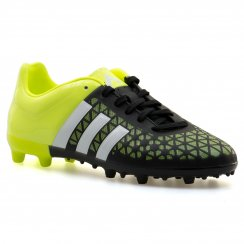 Adidas Performance Juniors Control Ace FG Football Boots (Core Black/White/Solar Yellow)