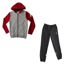 Adidas Performance Juniors HO JO Fleece Track Suit (Grey/Red)
