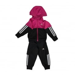 Adidas Performance Juniors Little Girls Hooded Track Suit (Equatorial Pink/Black/White)