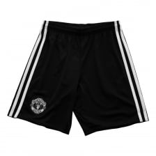 Adidas Performance Juniors Manchester United 2017/2018 Away Shorts (Black)