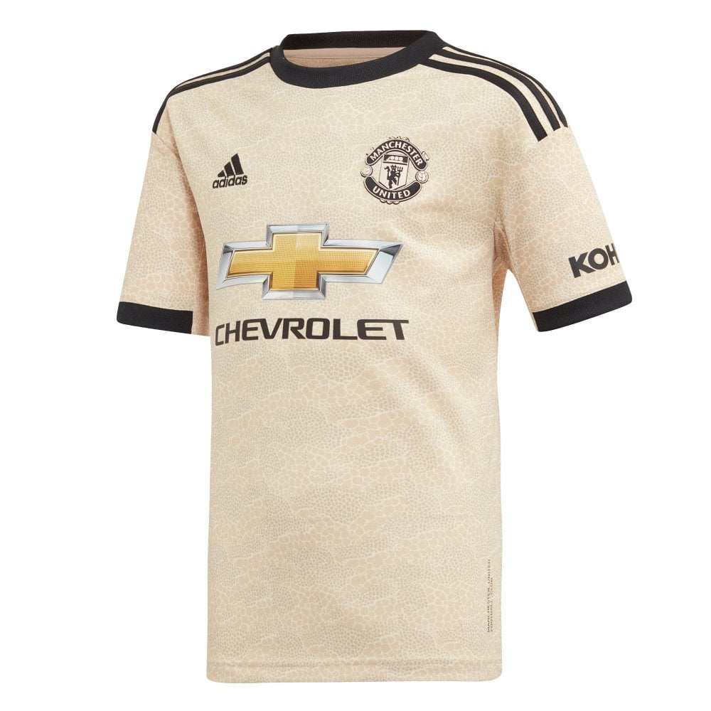 ADIDAS Performance Juniors Manchester United 2019/2020 Away Shirt (Gold) - Sports from Loofes UK