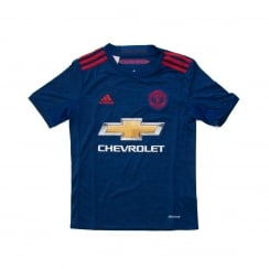 Adidas Performance Juniors Manchester United Away Football Shirt 16/17 (Royal Blue/Real Red)