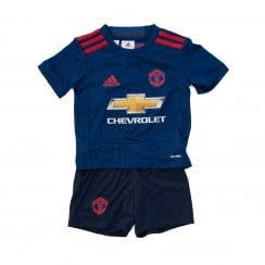 Adidas Performance Juniors Manchester United Away Kit 16/17 (Blue/Red)