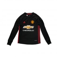 Adidas Performance Juniors Manchester United Home Goalie 16/17 Football Shirt (Black/Real Red)