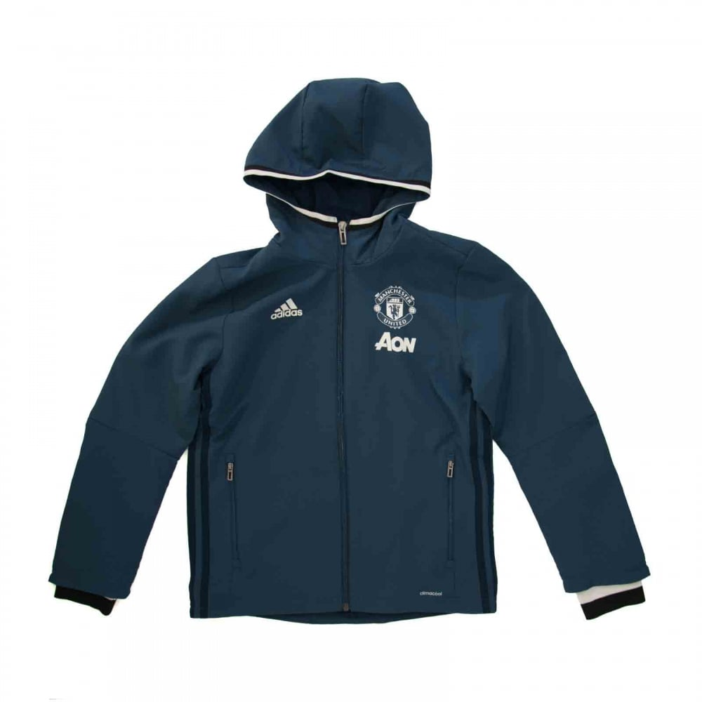9e64c2608c95 Adidas Performance Juniors Manchester United Pre-Match 316 Jacket (Navy)
