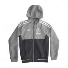 Adidas Performance Juniors Manchester United Pre Match Jacket (Grey)