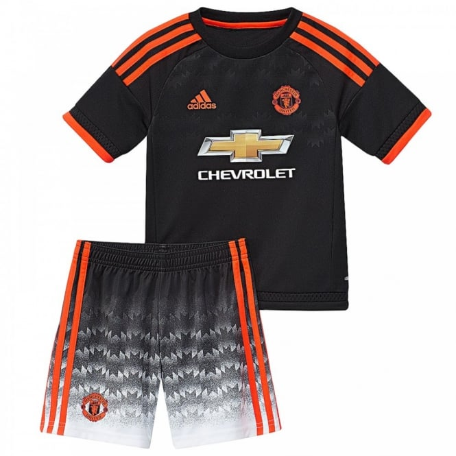 adidas performance juniors manchester united third mini football kit core  solar red . 6525371ee