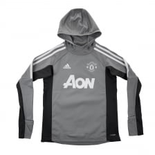 Adidas Performance Juniors Manchester United Warm-up Hoodie (Grey)