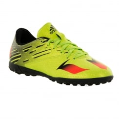 Adidas Performance Juniors Messi 15.4 Turf Football Trainers (Semi Solar Slime/Solar Red/Core Black