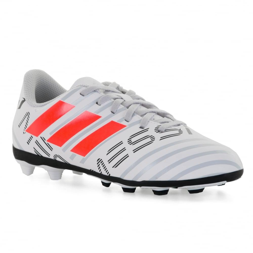 new product 2a152 03283 ADIDAS Performance Juniors Messi Nemeziz 17.4 FXG J 317 Football Trainers  (White)
