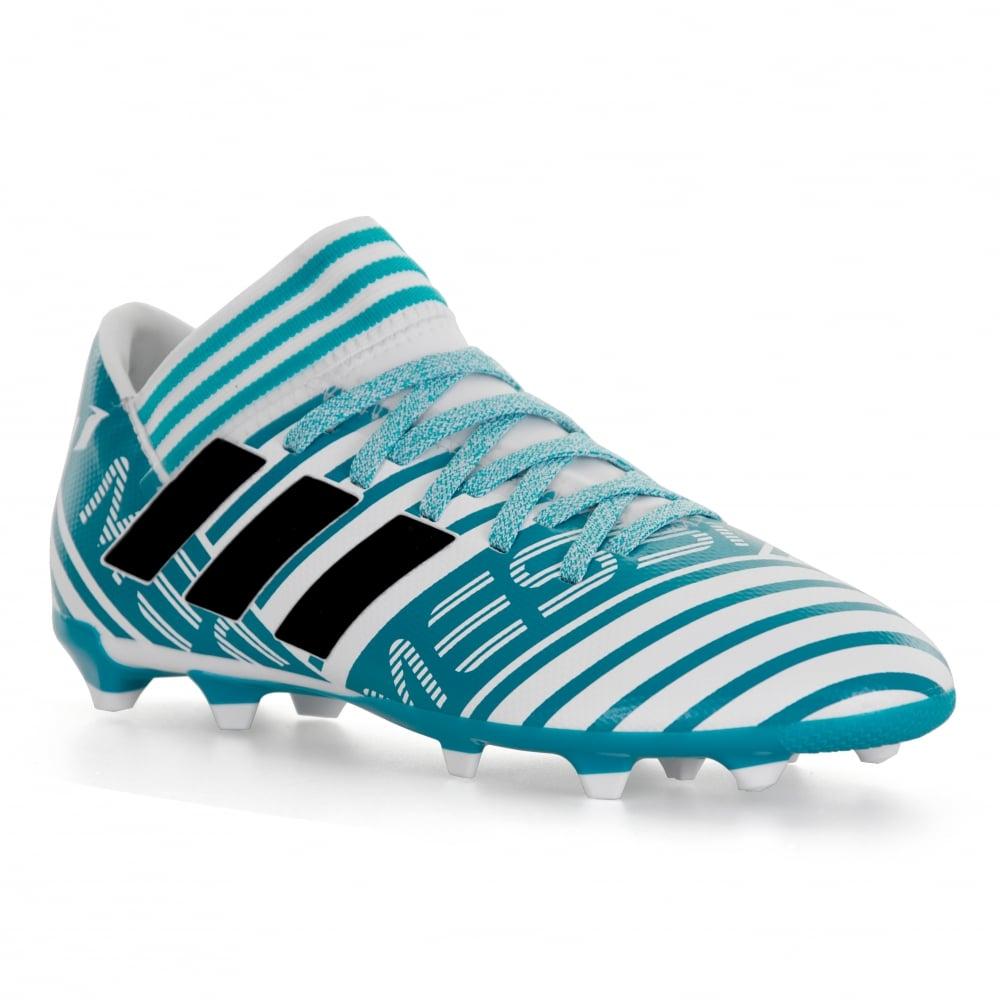 ADIDAS Performance Juniors Nemeziz Messi 17.3 FG Football Boots (Blue White) ed919b91ba13