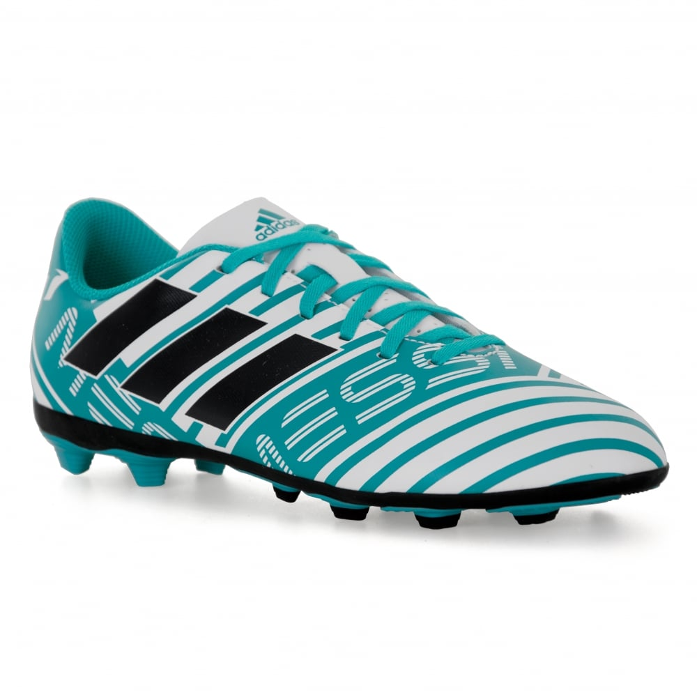 123e7913b6ae ADIDAS Performance Juniors Nemeziz Messi 17.4 FXG 317 Football Boots (Blue  White)