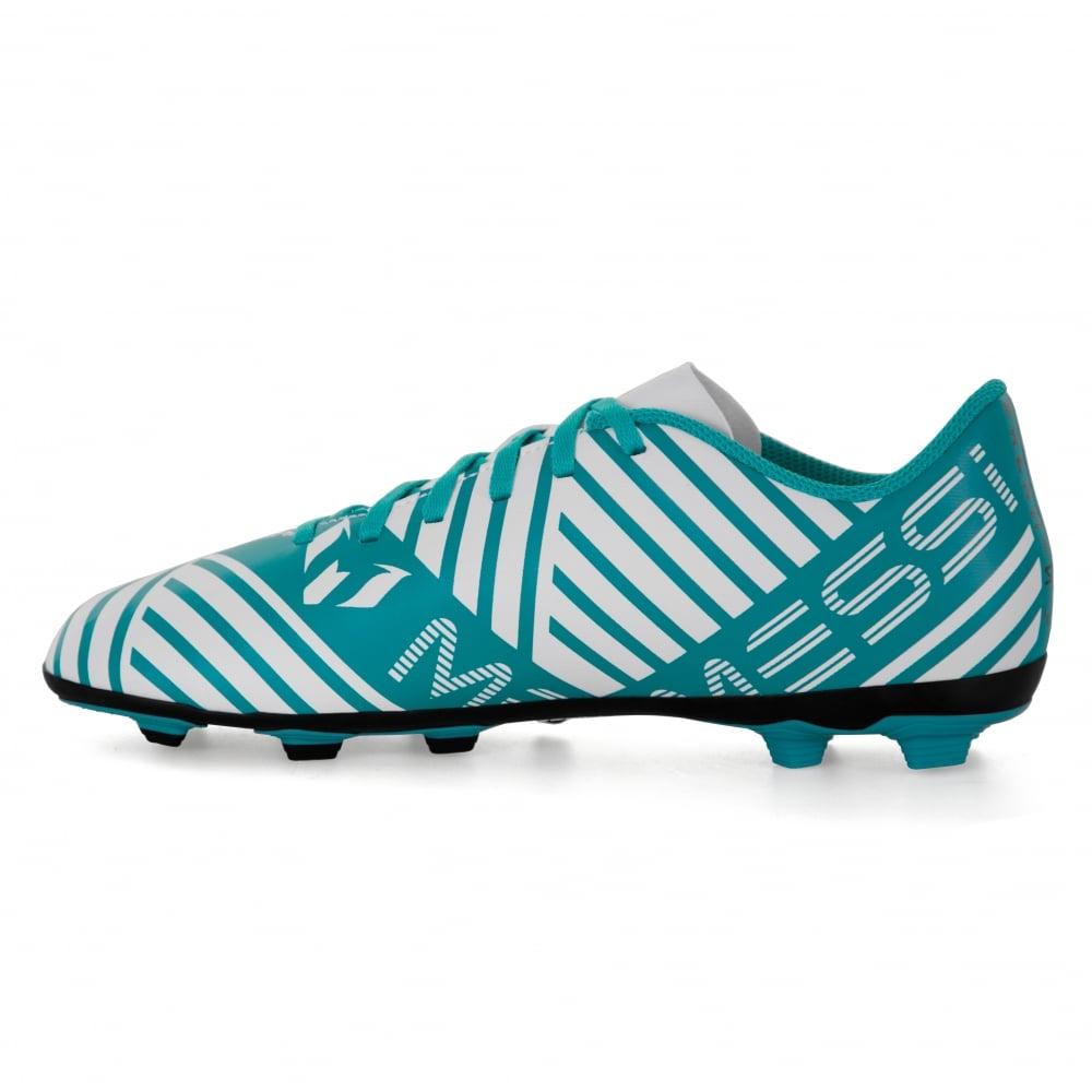 4fbc82709 ADIDAS Performance Juniors Nemeziz Messi 17.4 FXG 317 Football Boots (Blue  White)