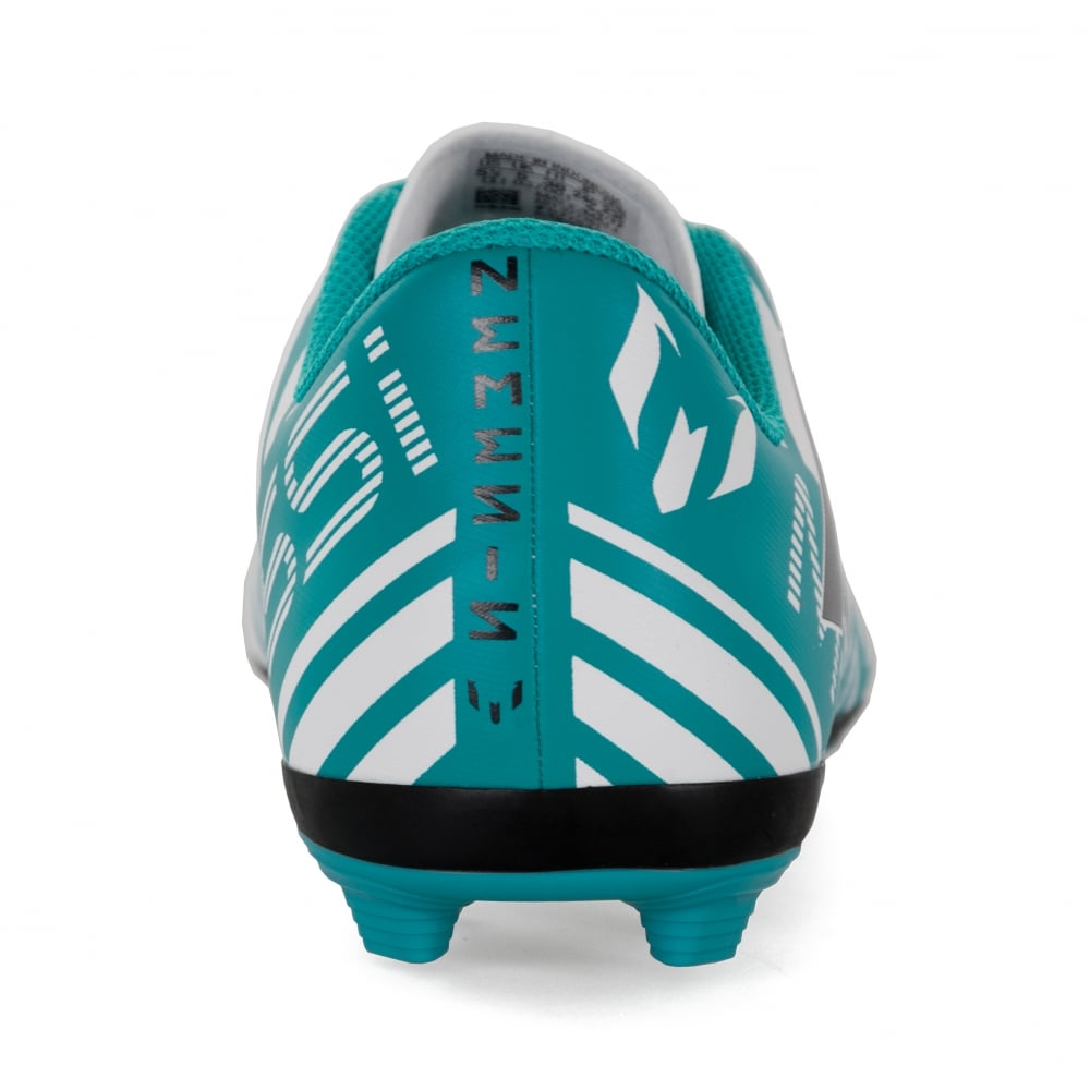 1a325d15884 ADIDAS Performance Juniors Nemeziz Messi 17.4 FXG 317 Football Boots (Blue  White)