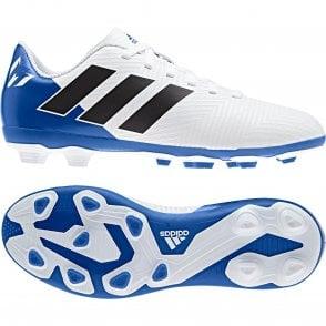 86c6a26c6c8 ADIDAS Performance Juniors Nemeziz Messi 18.4 FXG Football Boots (White)