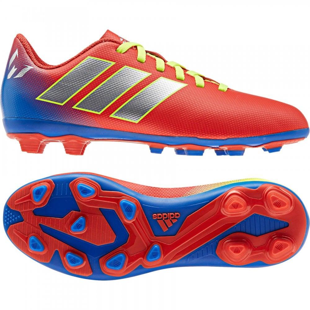 48e3889f3 ADIDAS Performance Juniors Nemeziz Messi 18.4 FxG J Football Boots (Red)