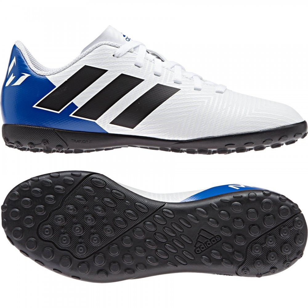 9f434ca6777e ADIDAS Performance Juniors Nemeziz Messi Tango 18.4 TF Football Trainers  (White)