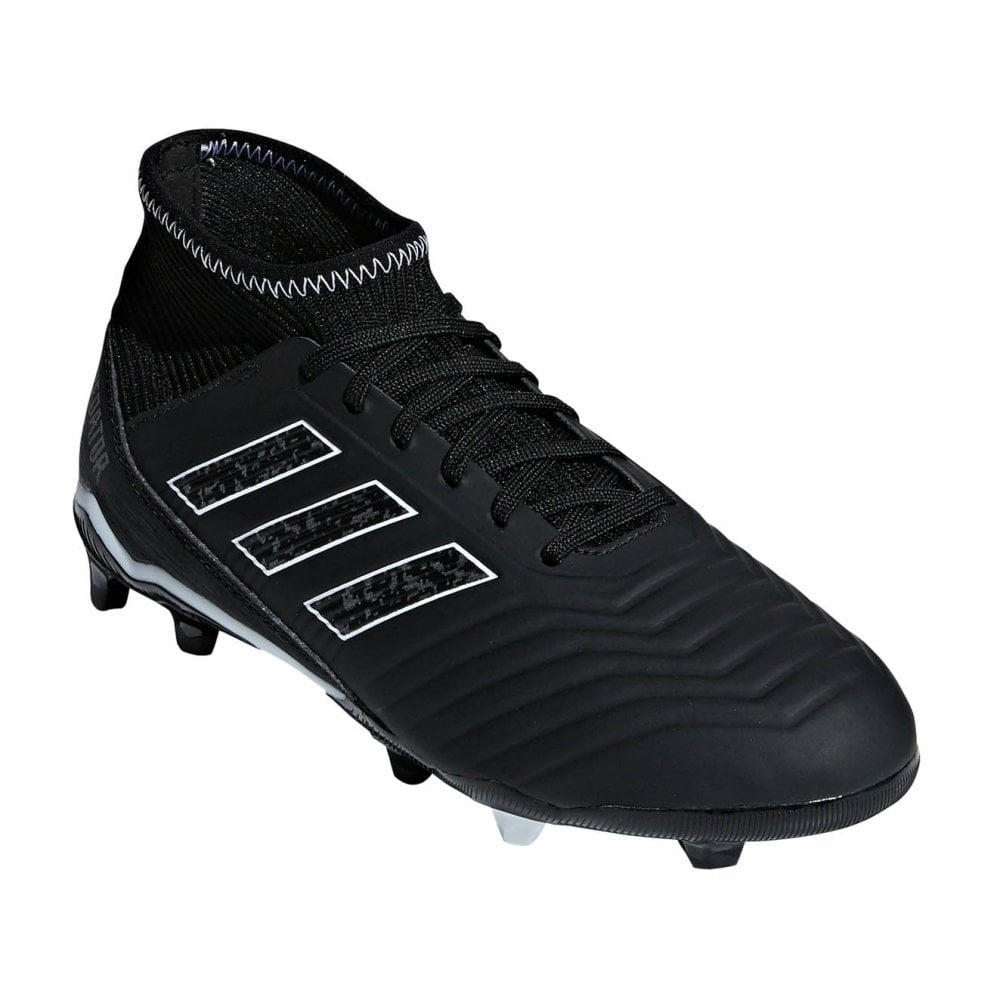 Juniors Predator 18.3 FG J Football Boots (Black)