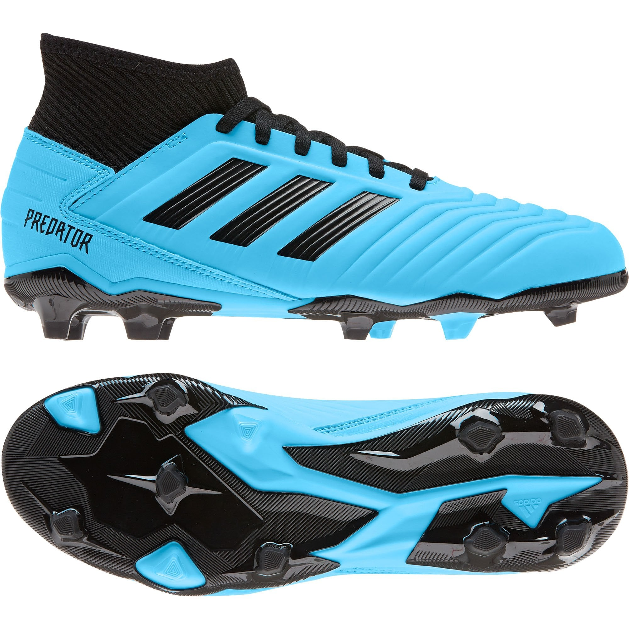 Blue ADIDAS Performance Juniors Predator 19.3 FG Football Boots