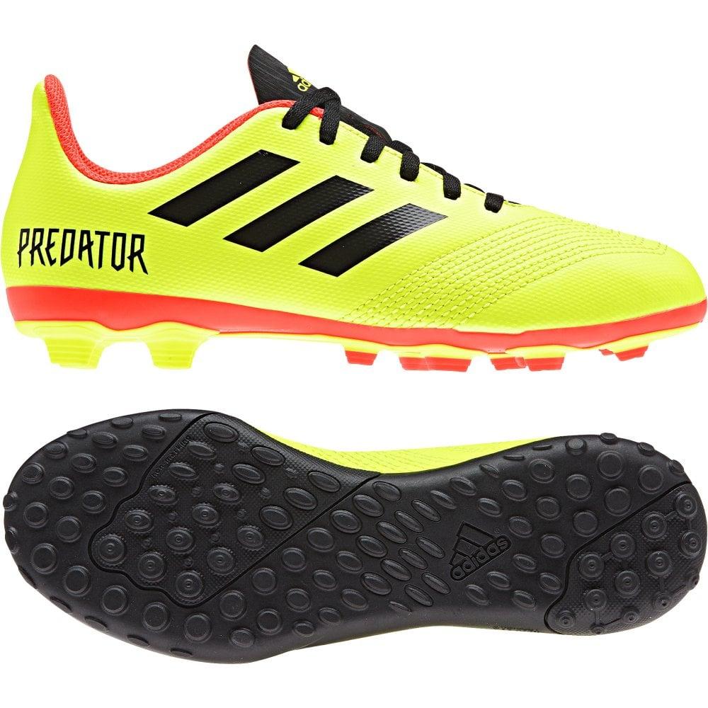 18d8a7c01e64 ADIDAS Performance Juniors Predator Tango 18.4 TF Football Trainers (Yellow)