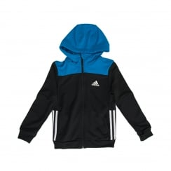 Adidas Performance Juniors Training Hooded Top (Black/Show Blue/White)