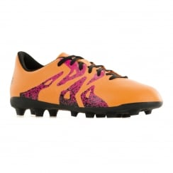 Adidas Performance Juniors X 15.4 Trainers (Solar Gold/Core Black/Shocking Pink)