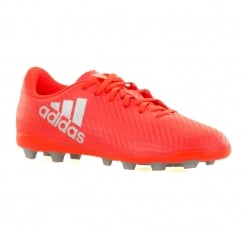 Adidas Performance Juniors X Speed Of Light FG Football Boots (Solar Red/Silver/Red)