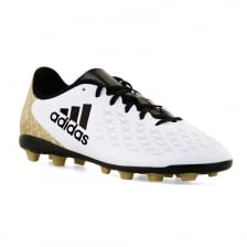 Adidas Performance Juniors X16.4 FG 416 Football Boots (White/Black/Gold)