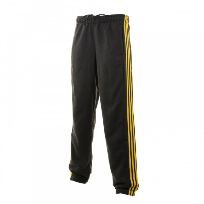 Adidas Performance Mens 3-Stripe 316 Fleece Pants (Black/Equatorial Yellow)