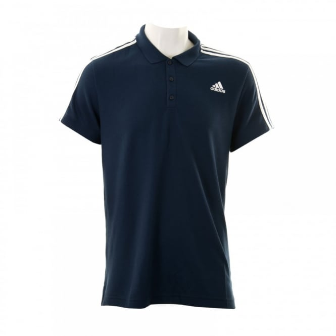Adidas Performance Mens 3-Stripe 316 Polo Shirt (Core Navy/White)
