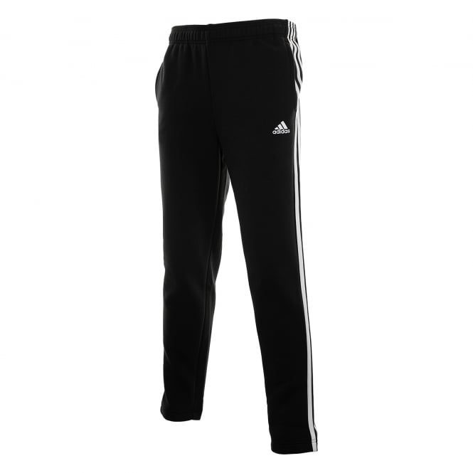 Adidas Performance Mens 3-Stripe Fleece Joggers (Black/White)