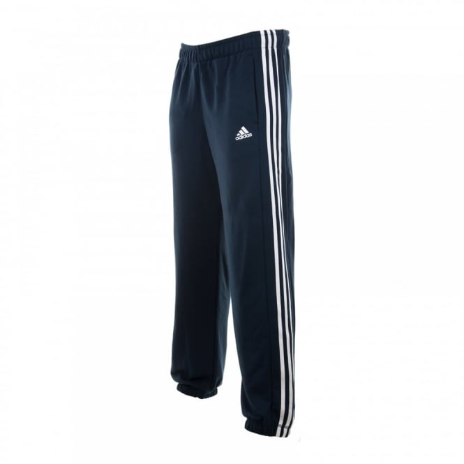 Adidas Performance Mens 3 Stripe Fleece Pants (Navy/White)