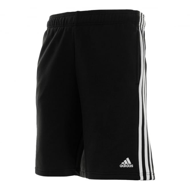 Adidas Performance Mens 3-Stripe Fleece Shorts (Black/White)