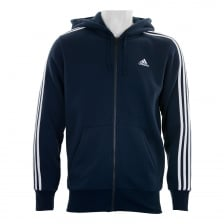Adidas Performance Mens 3-Stripe Hoodie (Navy/White)