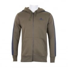 Adidas Performance Mens 3-Stripe Hoody (Khaki)