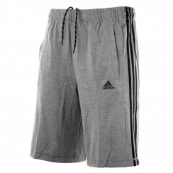 Adidas Performance Mens 3-Stripe™ Jersey Shorts (Grey/Black)