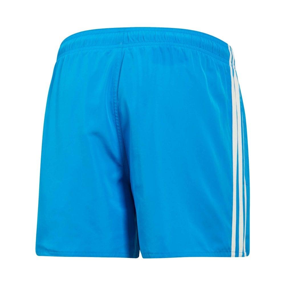 1432f50b9e ADIDAS Performance Mens 3-Stripe Very Short Swim Shorts (Blue ...