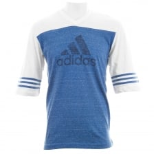 Adidas Performance Mens Authentic T-Shirt (White/Blue)