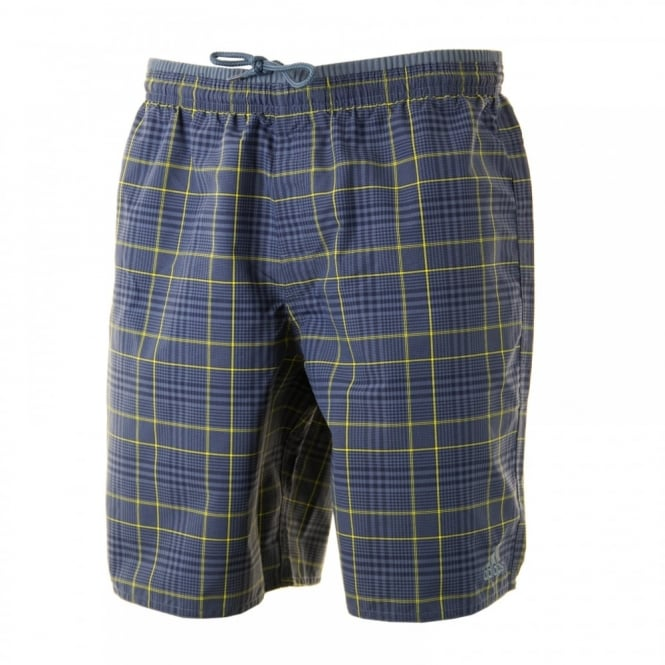Adidas Performance Mens Check 316 Swim Shorts (Core Navy/Show Slime)