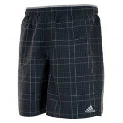 Adidas Performance Mens Check Swim Shorts (Black/Clonix)