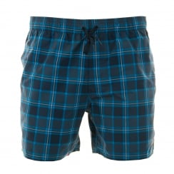 Adidas Performance Mens Check Swim Shorts (Navy/Blue)