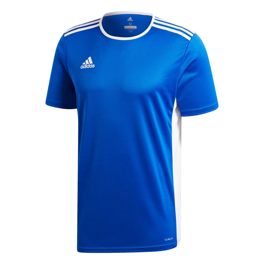 8a9af4c0 ADIDAS Performance Mens Entrada 18 Jersey T-Shirt (Blue / White ...