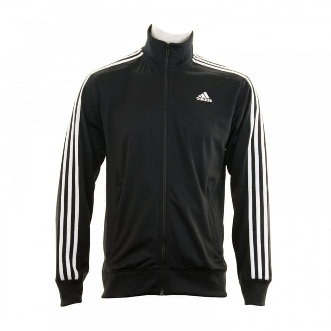 Adidas Performance Mens Essential 3-Stripe Track Suit Top (Black/White)