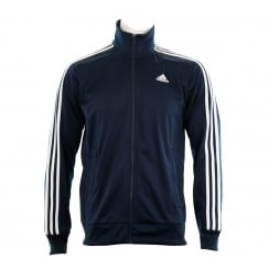 Adidas Performance Mens Essential 3-Stripe Track Suit Top (Navy/White)