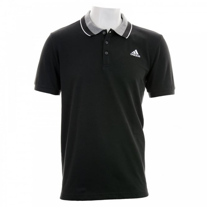 Adidas Performance Mens Essential Polo Shirt (Black/Grey/White)