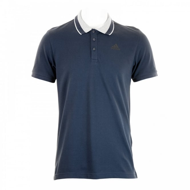 Adidas Performance Mens Essential Stripe Polo Shirt (Navy)
