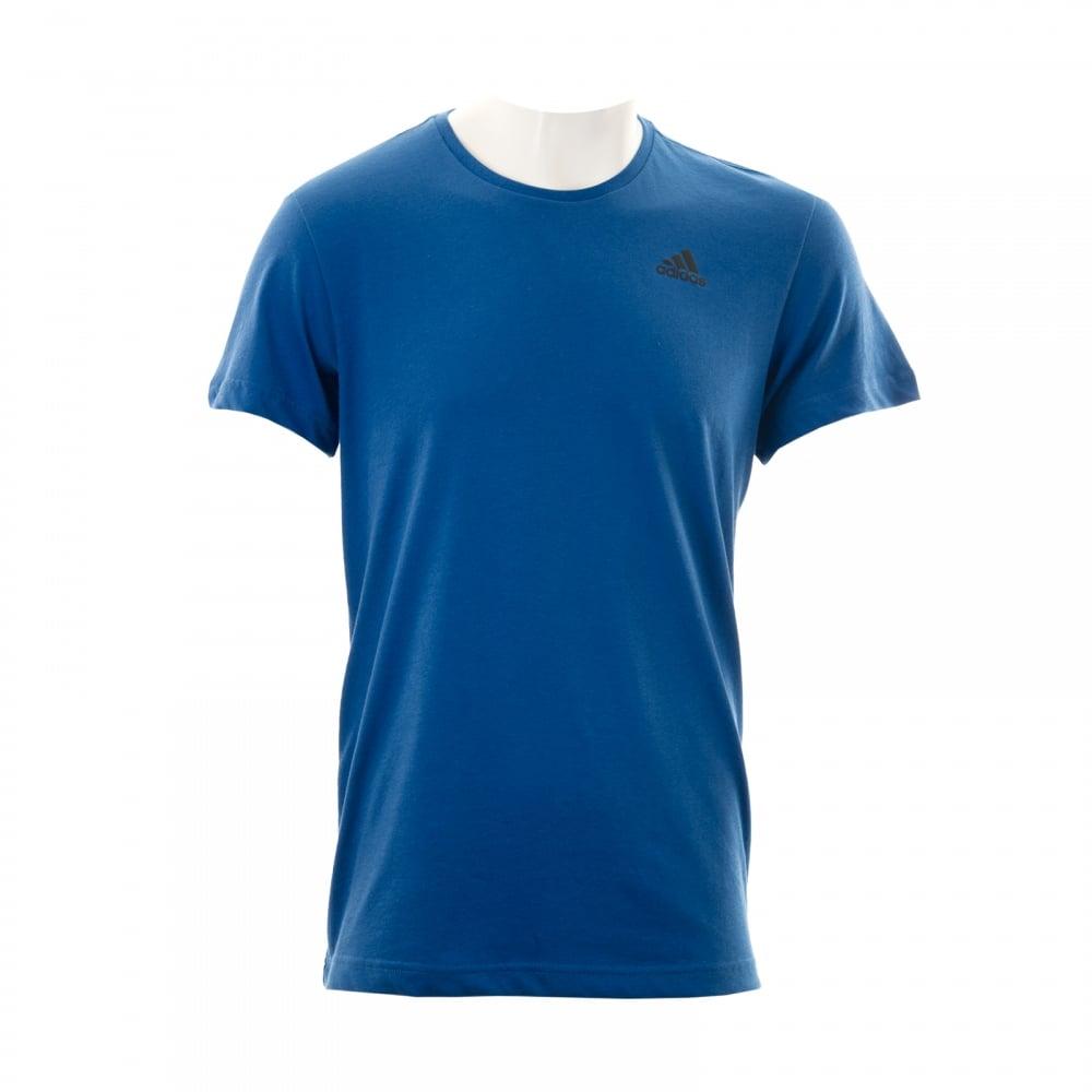 Adidas Performance Mens Essential T-Shirt (Blue/Black)