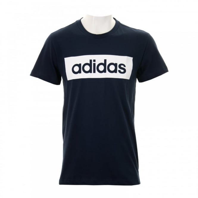 Adidas Performance Mens Linear T-Shirt (Navy)