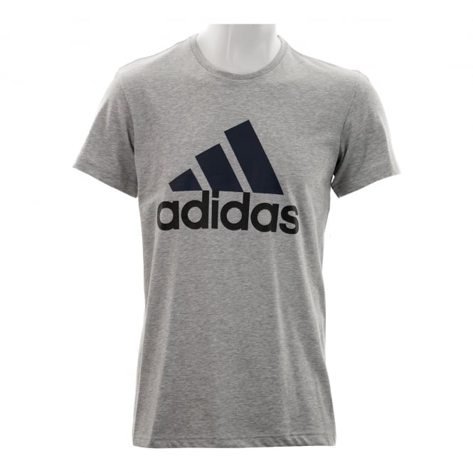 Adidas Performance Mens Logo 1 T-Shirt (Medium Grey)