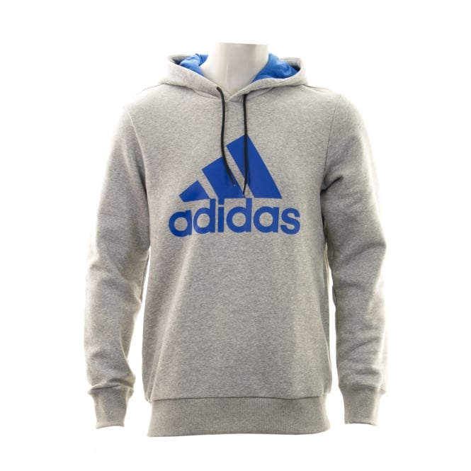 Adidas Performance Mens Logo Hooded Top (Grey)